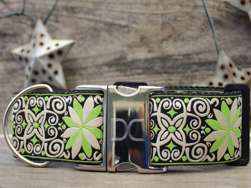 Dutch Spring extra wide dog collar by www.diva-dog.com