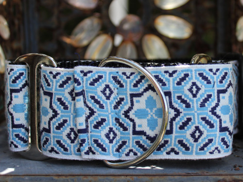 Santorini by the Sea martingale dog collar by www.diva-dog.com