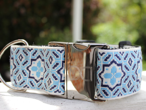 Santorini Extra Wide dog collar by www.diva-dog.com