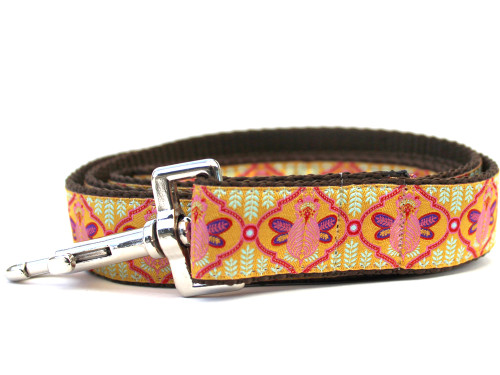 Queen Bee pink lemonade dog leash by www.diva-dog.com