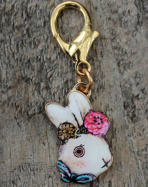 Victorian Rabbit dog collar by www.diva-dog.com