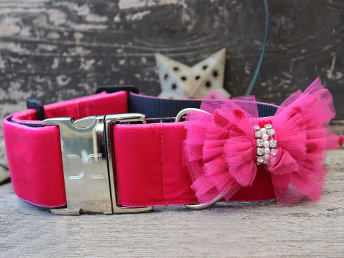 Bardot extra wide dog collar by www.diva-dog.com