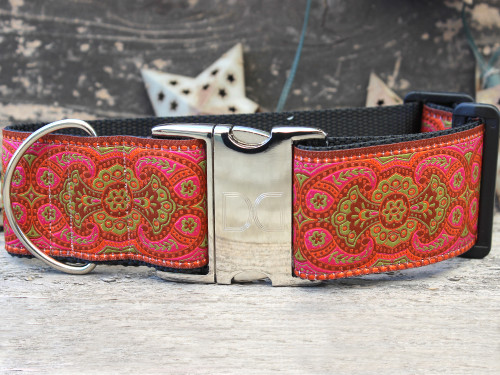 Medina Spice extra wide dog collar by www.diva-dog.com