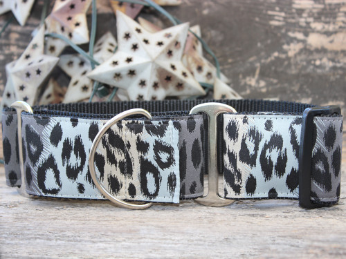 Midnight Leopard martingale dog collar by www.diva-dog.com