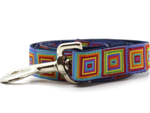 Squares dog leash by www.diva-dog.com