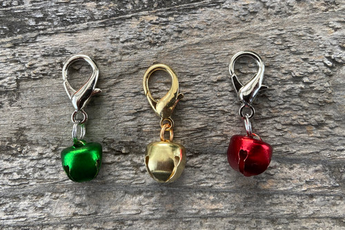 Jingle bell dog collar charm