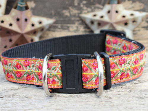 Bombay dog collar with breakaway safety buckle by www.diva-dog.com