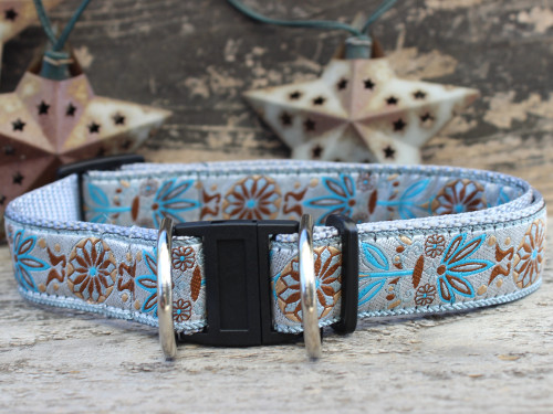 Boho Morocco dog collar with breakaway safety buckle by www.diva-dog.com