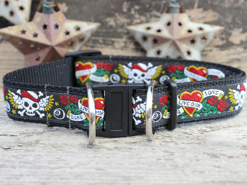 Wild One safety collar with breakaway buckle by www.diva-dog.com