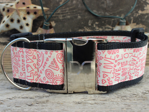 Love Notes wide dog collar by www.diva-dog.com