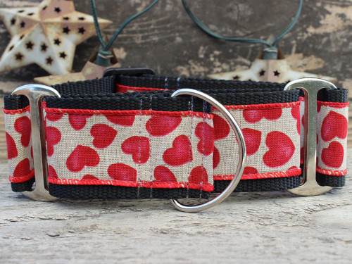 Humble Hearts martingale dog collar by www.diva-dog.com
