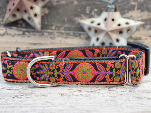 Venice Ink medium martingale dog collar by www.diva-dog.com