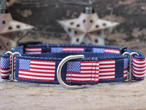 Stars n Stripes medium martingale dog collar by www.diva-dog.com