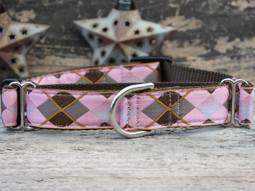 Argyle medium martingale dog collar by www.diva-dog.com