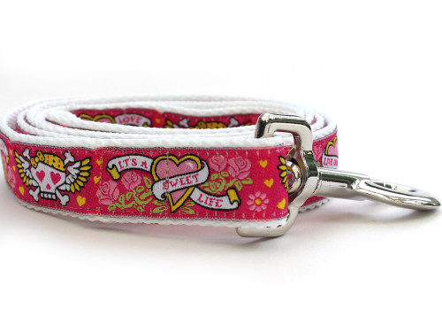 Wild One Pink Dog Leash - by Diva-Dog.com