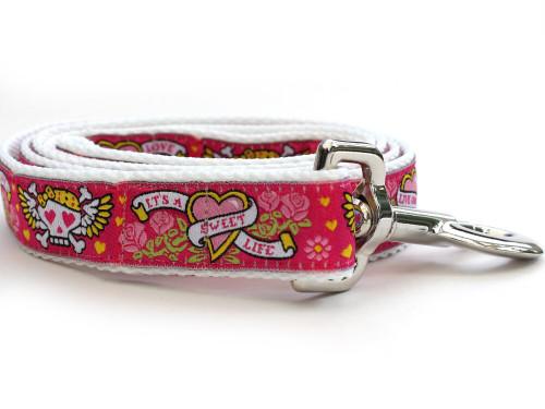 Wild One Pink Dog Leash - by Diva-Dog.com