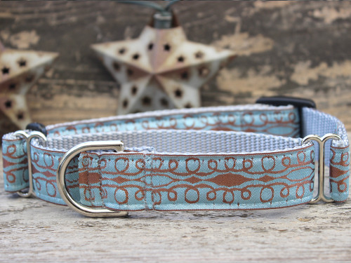 Calligraphy medium martingale dog collar by www.diva-dog.com