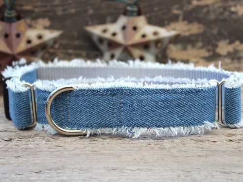 Blue Jean Baby medium martingale dog collar by www.diva-dog.com
