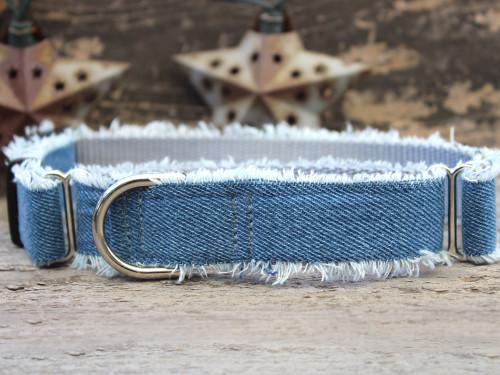 Blue Jean Baby medium martingale dog collar by www.diva-dog.com