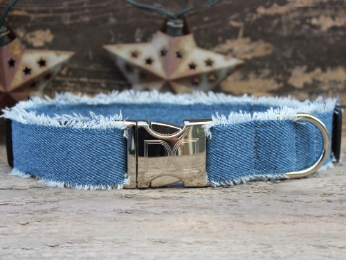 Blue Jean Baby dog collar by www.diva-dog.com