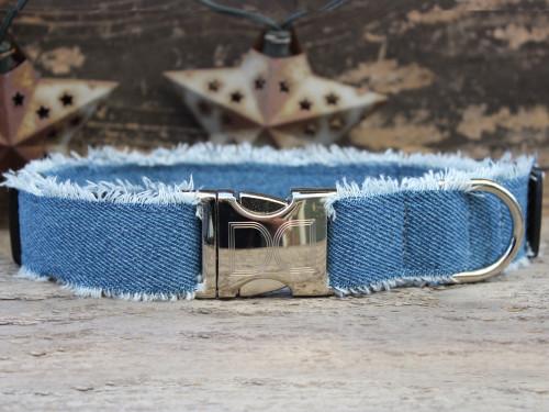 Blue Jean Baby dog collar by www.diva-dog.com