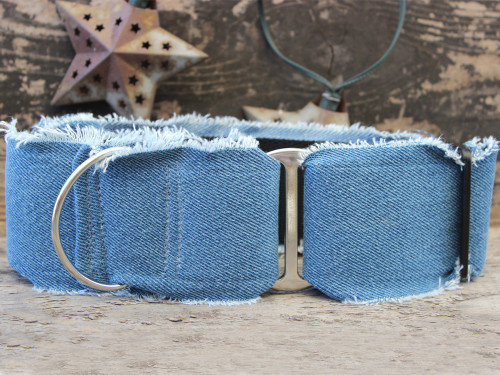 Blue Jean Baby extra wide martingale by www.diva-dog.com