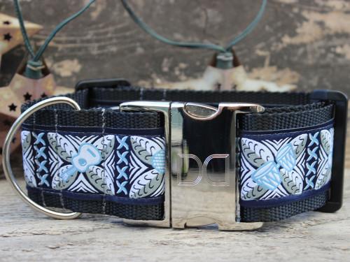 Aloha extra wide dog collar by www.diva-dog.com