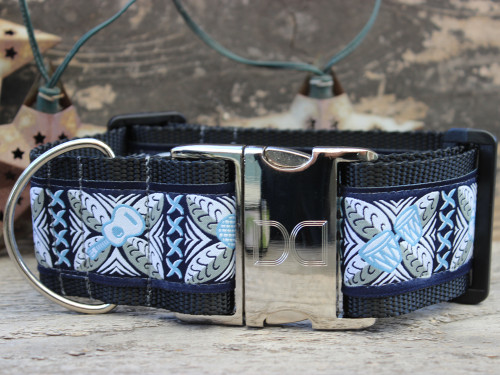 Aloha extra wide dog collar by www.diva-dog.com
