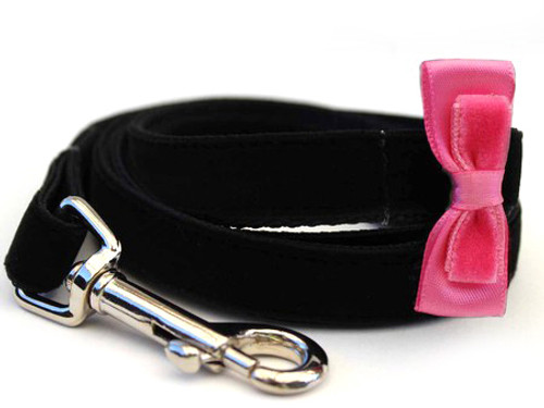 Bowtie Pink Dog Leash - by Diva-Dog.com