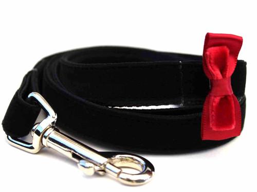 Bowtie Red Dog Leash - by Diva-Dog.com