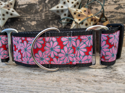 Strawberry Fields martingale dog collar by www.diva-dog.com