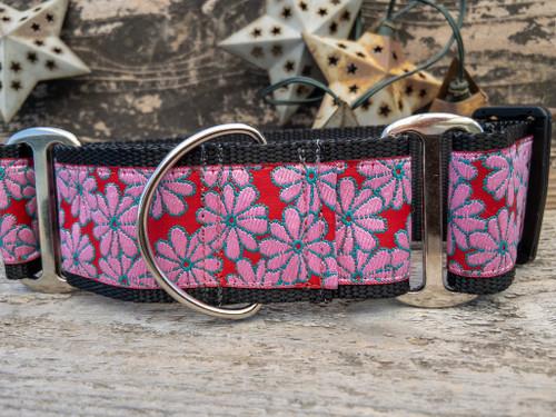 Strawberry Fields martingale dog collar by www.diva-dog.com