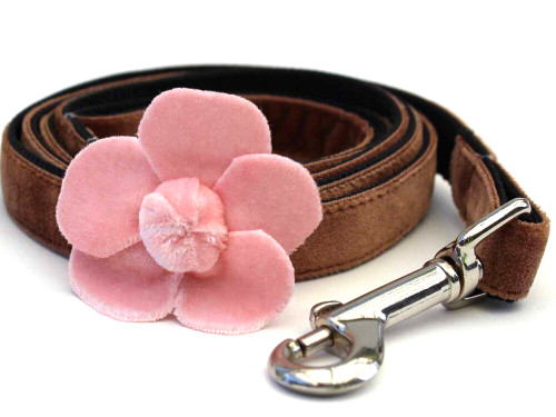 Camellia Pink Dog Leash - by Diva-Dog.com