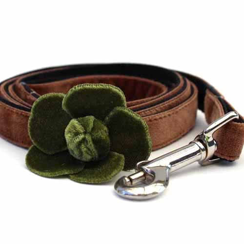Camellia Green Dog Leash - by Diva-Dog.com