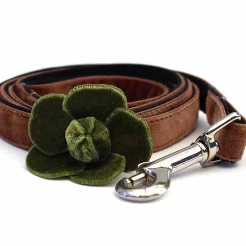 Camellia Green Dog Leash - by Diva-Dog.com