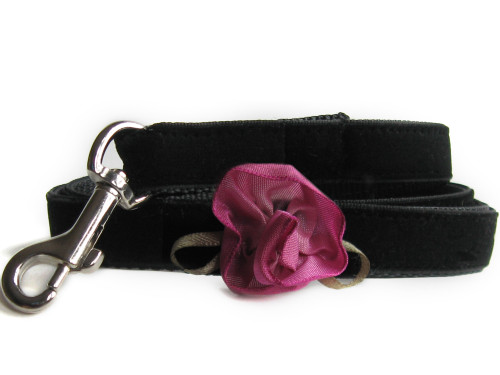Carnation Orchid Dog Leash - by Diva-Dog.com