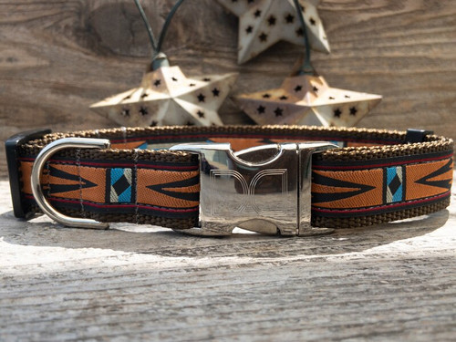 Navajo dog collar by www.diva-dog.com