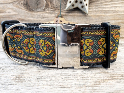 Bohemian Rhapsody extra wide dog collar by www.diva-dog.com