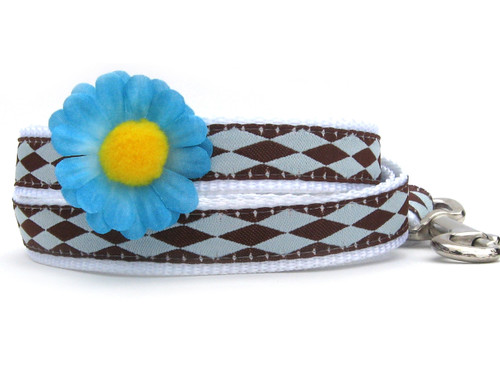Gerber Daisy Dog Leash - by Diva-Dog.com