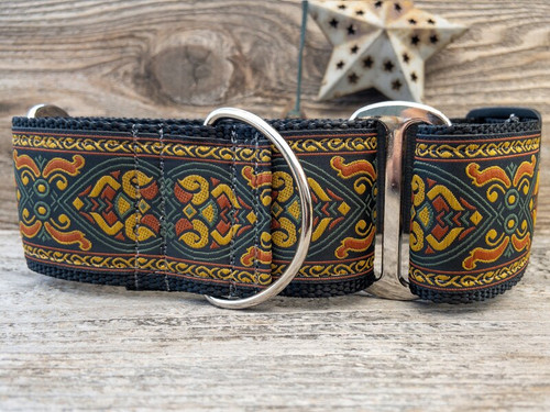 Bohemian Rhapsody martingale dog collar by www.diva-dog.com