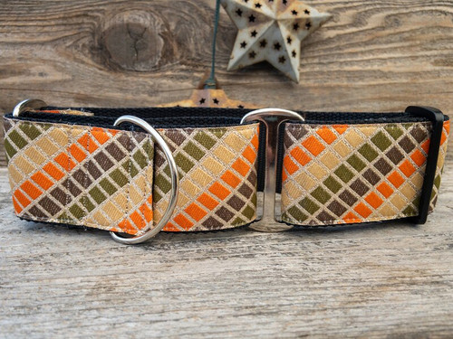 Boogie Nights extra wide martingale dog collar by www.diva-dog.com