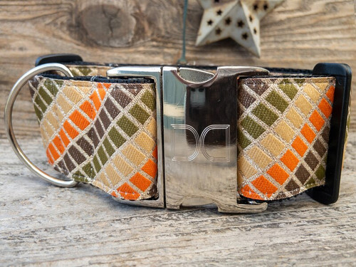 Boogie Nights extra wide dog collar by www.diva-dog.com