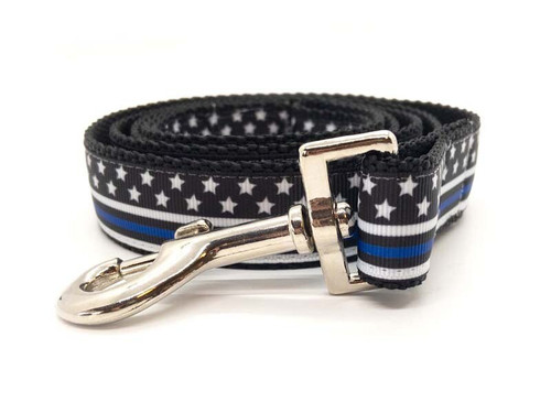 Thin Blue Line dog leash by www.diva-dog.com