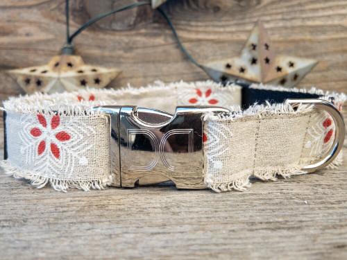 Vintage Noel dog collar by www.diva-dog.com