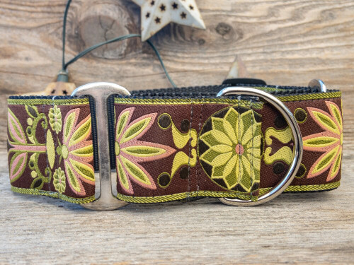 Venice Olive dog martingale by www.diva-dog.com