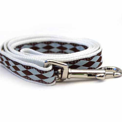 Harlequin Blue Dog Leash - by Diva-Dog.com