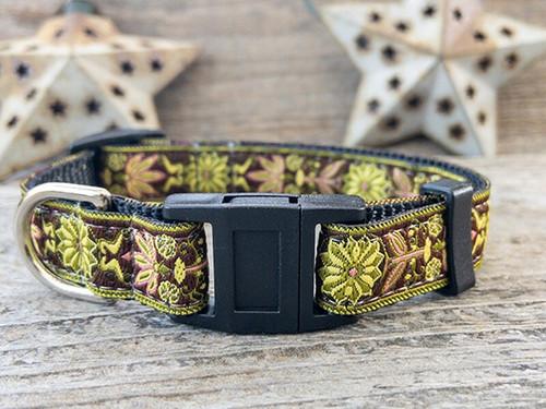 Venice Olive cat collar by Diva-Dog.com