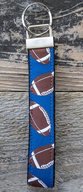 Football wristlet keychain by www.diva-dog.com