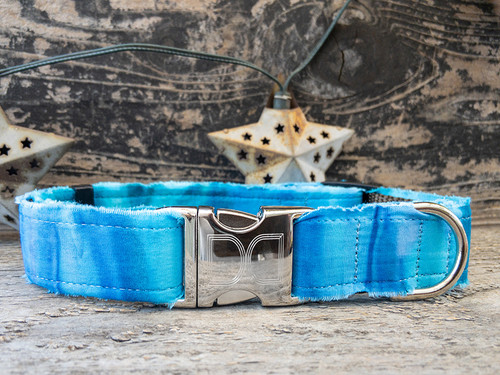 Bahama Blues dog collar by www.diva-dog.com