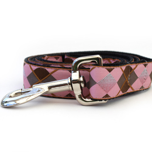 Argyle Dog Leash - by Diva-Dog.com